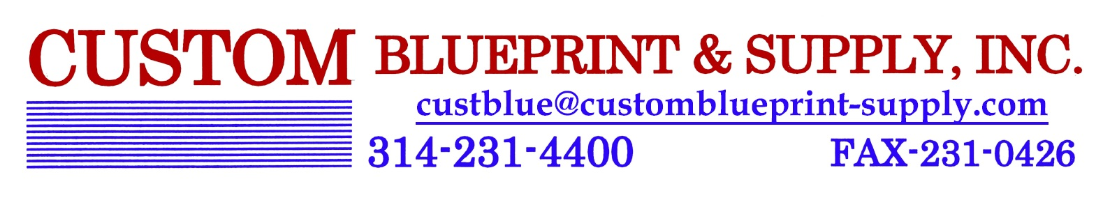 Custom Blueprint & Supply